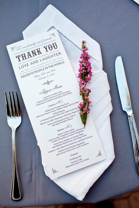 welcome guests to a wedding - thank you card by that girl press