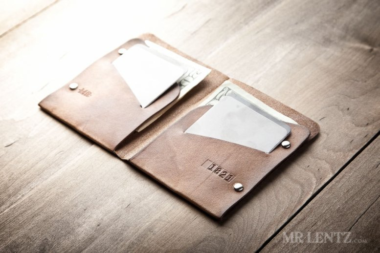 thin leather groomsmen wallets