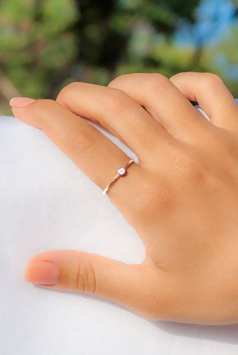 tiny gold ring