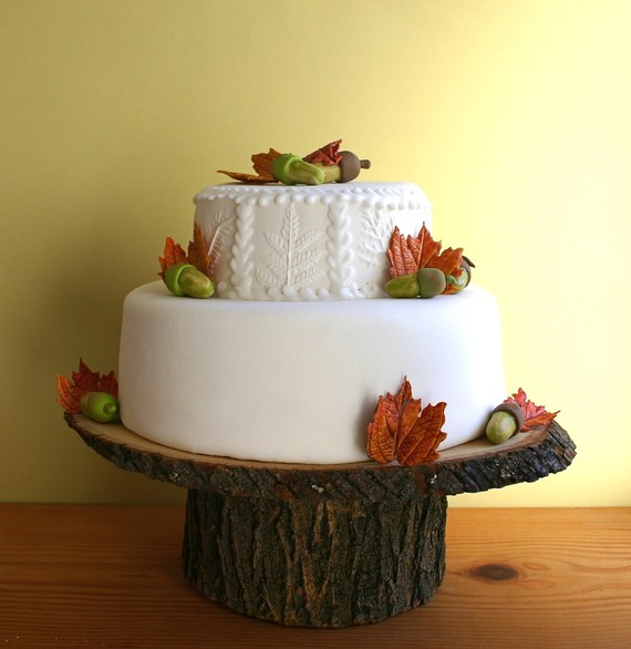 Rustic Wedding Wood Cake Stand: Photo Of The Day » Handmade Fall Cake Stand