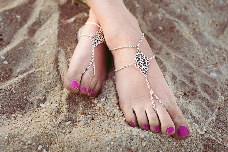 tribal barefoot sandals