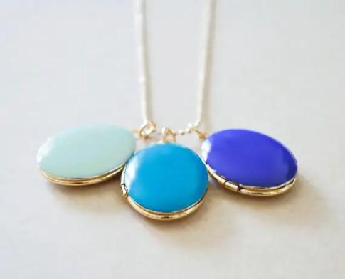 trio blue lockets