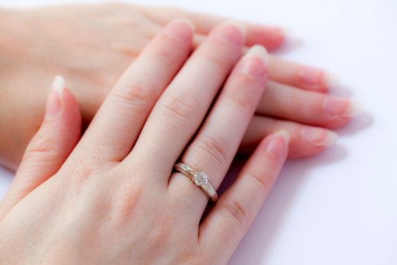 twig engagement ring gold
