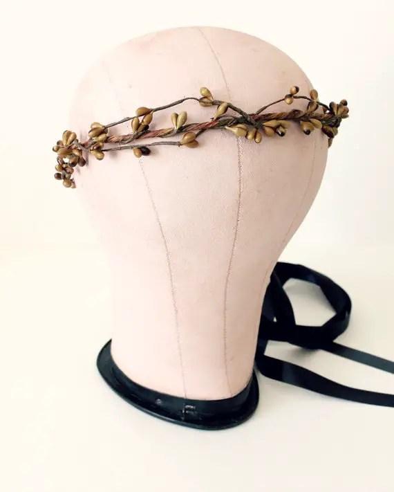 twig flower crown