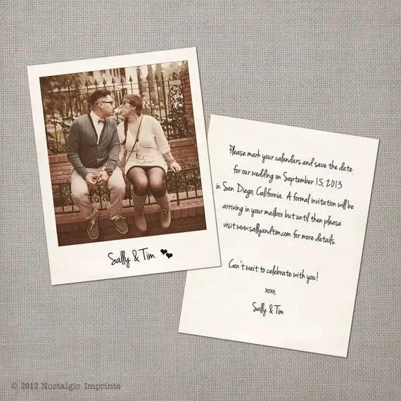 vintage polaroid save the date