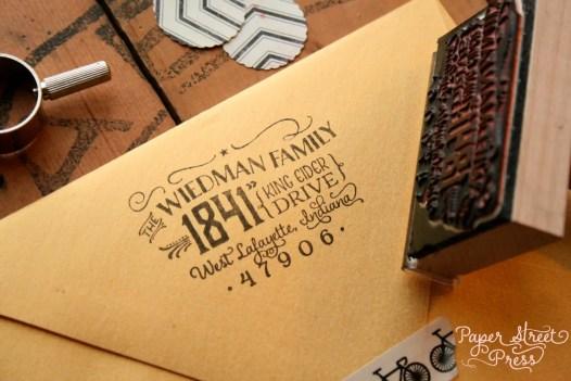 vintage return address stamp