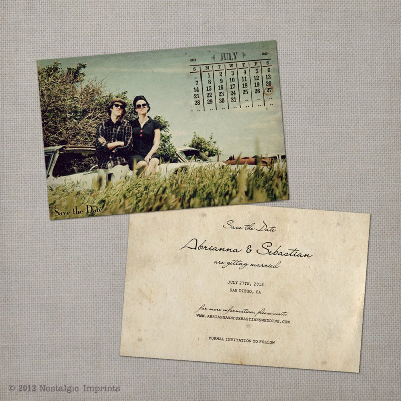 Vintage Save the Date Idea