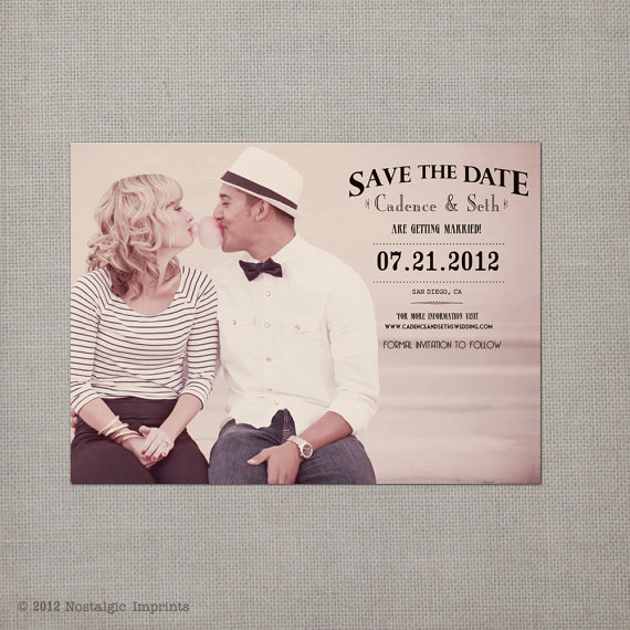 Vintage Save the Date Idea - Postcards by Nostalgic Imprints