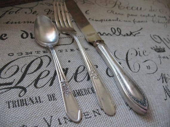 vintage wedding silverware