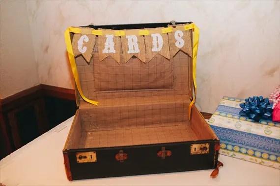 DIY Fall Wedding - Photo by Noelle Ann Photography - #vintage #suitcase #card #box #wedding #reception #decor