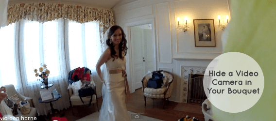 Wedding Bouquet Camera (via YouTube Video by Ben Horne)
