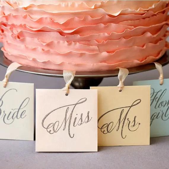 wedding cake charms for bridesmaids - set