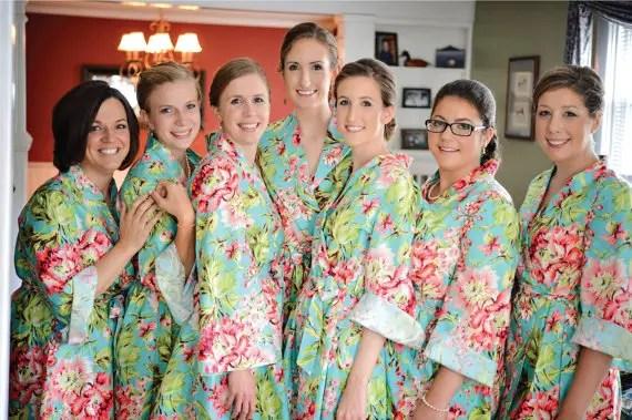 wedding day floral robe - wedding invitation credit + robe giveaway