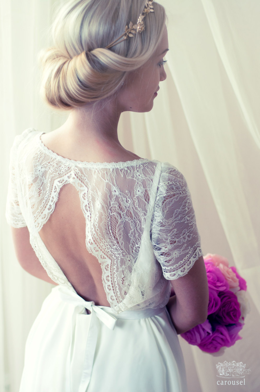 A stunning two piece dress / separates for weddings! By Carousel. | two-piece wedding dresses | http://emmalinebride.com/bride/two-piece-dresses-weddings/