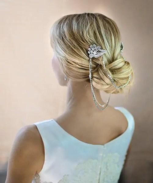 bridal hair chain of