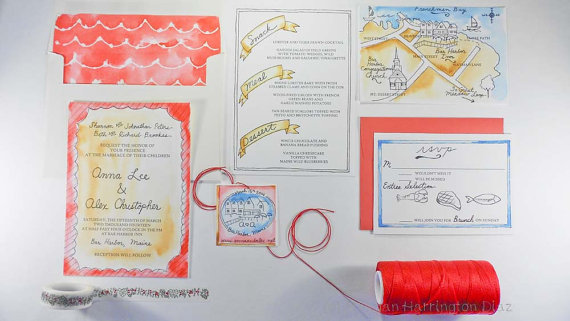 Maps for #Wedding Invitations (map: tying the knots)