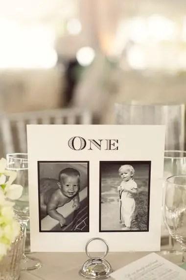 wedding table names - wedding-table-names-using-childhood-photos