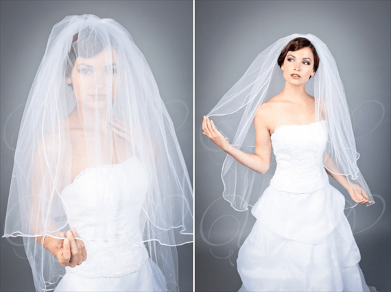 8 Wedding Veil Styles (by EmmalineBride.com, veil by Unveiled Bridal Designs) #handmade #wedding #veils