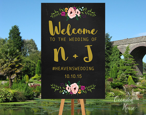 wedding welcome sign by occasion house