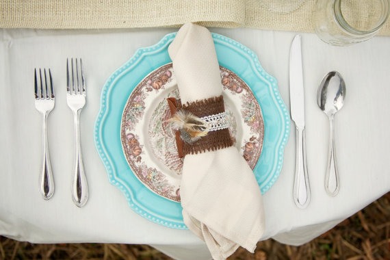Napkin Rings for Weddings - by peckled