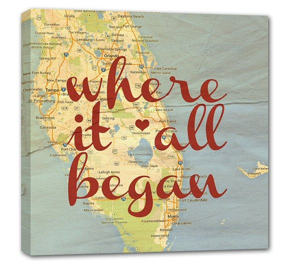 where it all began map canvas 10 x 10