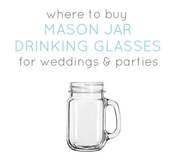 Where to Buy Mason Jar Drinking Glasses (w/ Handles)