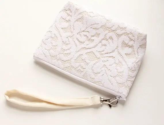 white lace wristlet by Good Marvin | via 5 New Handmade Wedding Finds - Emmaline Bride http://emmalinebride.com/marketplace/