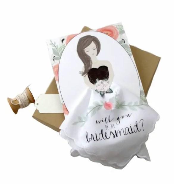Be My Bridesmaid Handkerchief