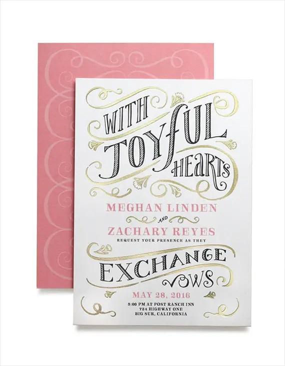 With Joyful Hearts Invitation - Wedding Stationery Trends 2014 via EmmalineBride.com
