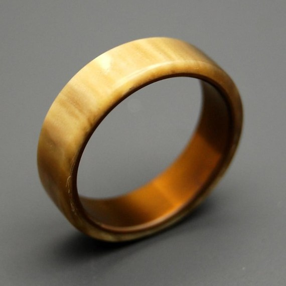 wood like band | handmade wedding rings | http://emmalinebride.com/jewelry/handmade-wedding-bands/