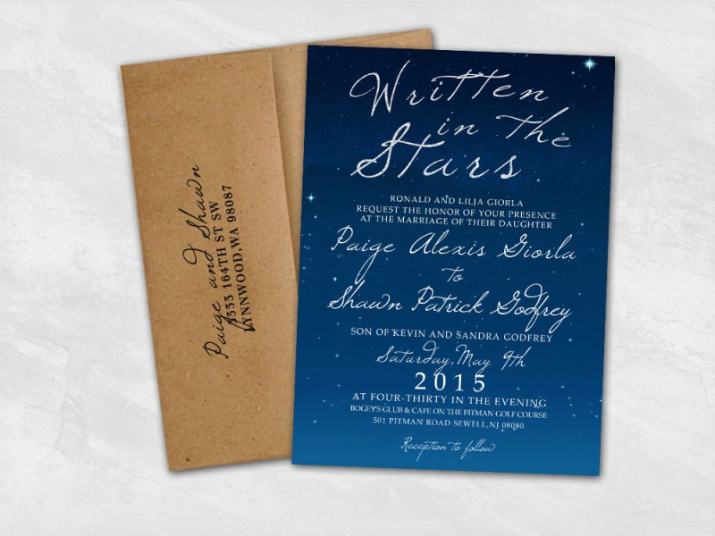 Night Wedding Invitations: 30 Ideas That Will Make Starry Night Weddings Your Favorite