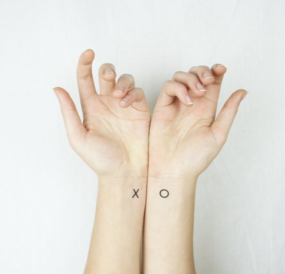x o temporary wedding tattoos