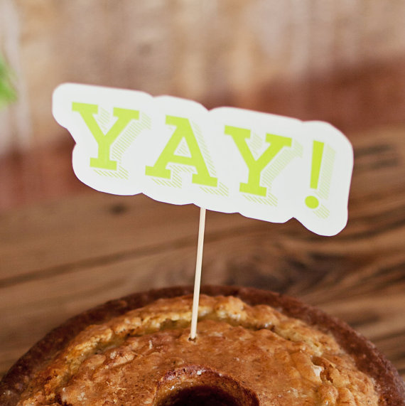 yay | fun cake toppers in words