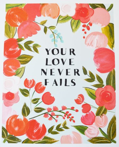 your love never fails print | #wedding Wedding Poster Ideas for (Easy!) Decor