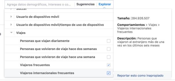 Segmentación poder adquisitivo Facebook