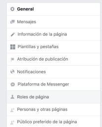 Asignar rol Facebook Ads