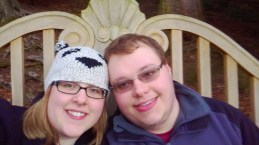 Me and Cameron at Fountains Abbey