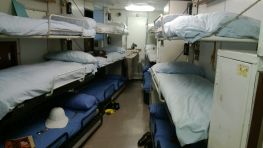 Bunk room in the Britannia (my uncle slept in these bunks)