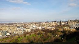 View over Edinburgh from the Castle