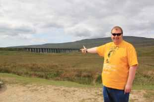 Cameron at Ribblehead Viaduct