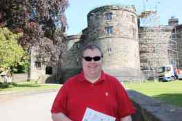 Cameron at Skipton Castle