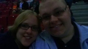 Me and Cameron inside Leeds First Direct Arena