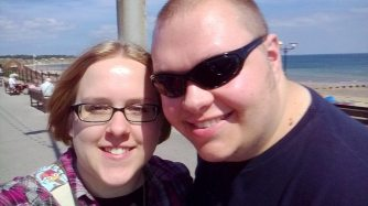 Me and Cameron in Bridlington