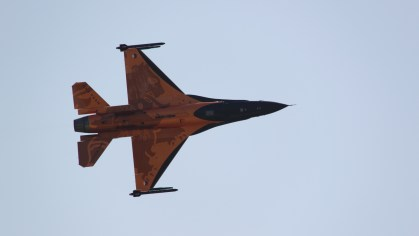 Netherlands Air Force F16 at Waddington Air show 2013