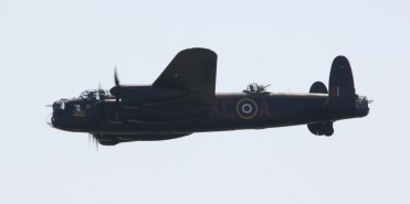 Lancaster Bomber at Waddington Air Show 2013