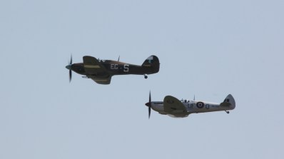 Spitfire and Hurricane at Waddington Air Show 2013