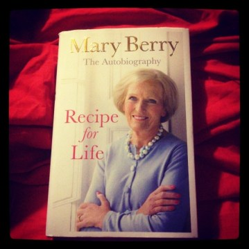 Curled up in bed with Mary Berry. #BakeOff