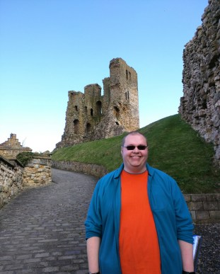 Cameron at Scarborough Castle