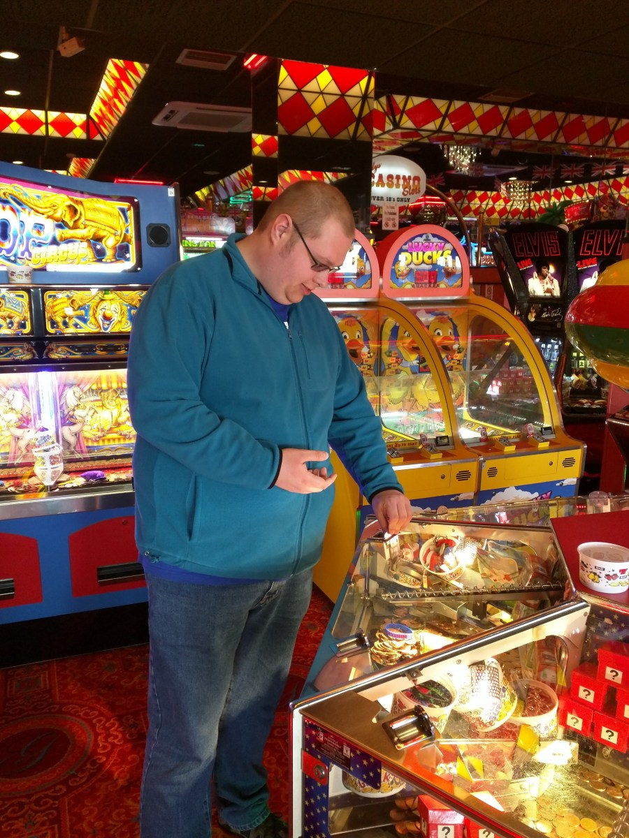 Playing the arcades!