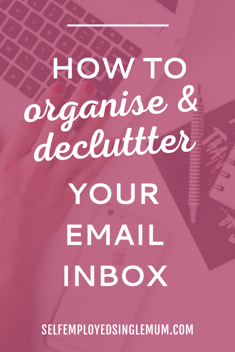 Constantly distracted by an overloaded email inbox? Here are five steps you can follow to organise and declutter your email inbox in no time! | organise your email inbox, inbox zero, productivity tips, productivity advice, self-employment organisation